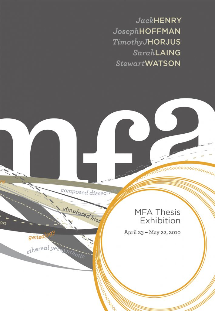 Front Cover for the 2010 MFA Thesis Exhibition guide