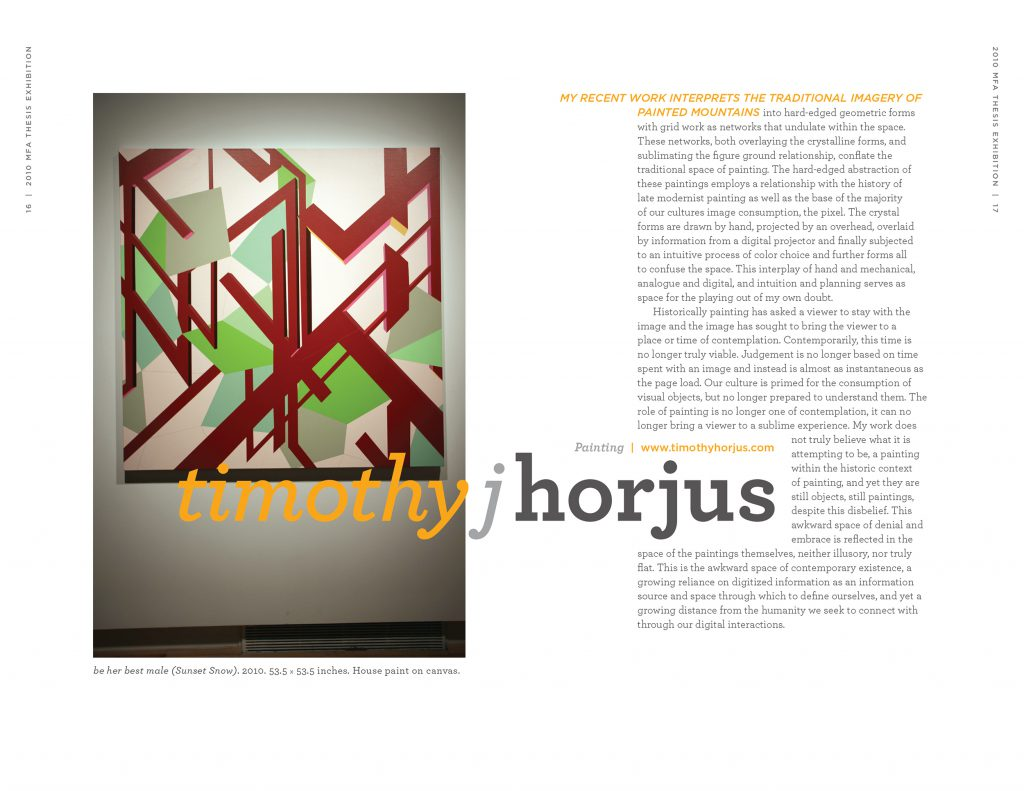 Spread focusing on Timothy J. Horjus