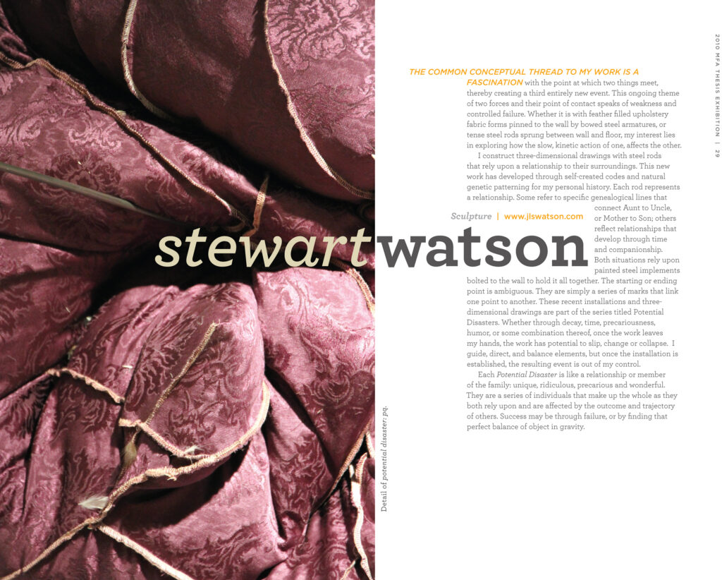 Spread focusing on Stewart Watson