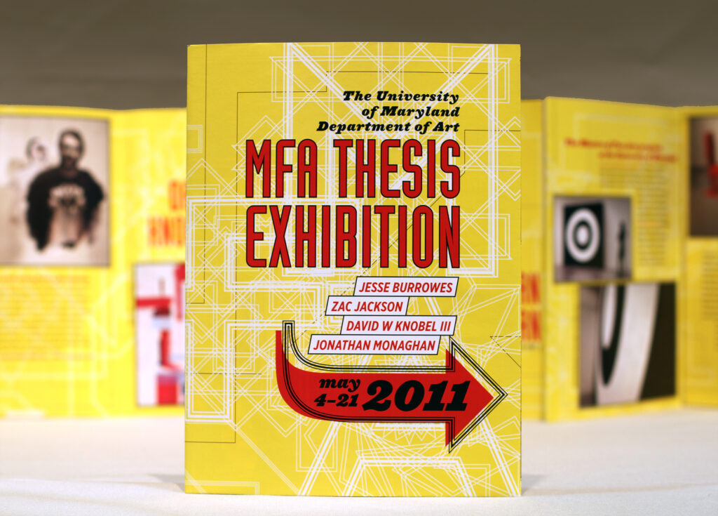 2011 UMD MFA Thesis Exhibition cover