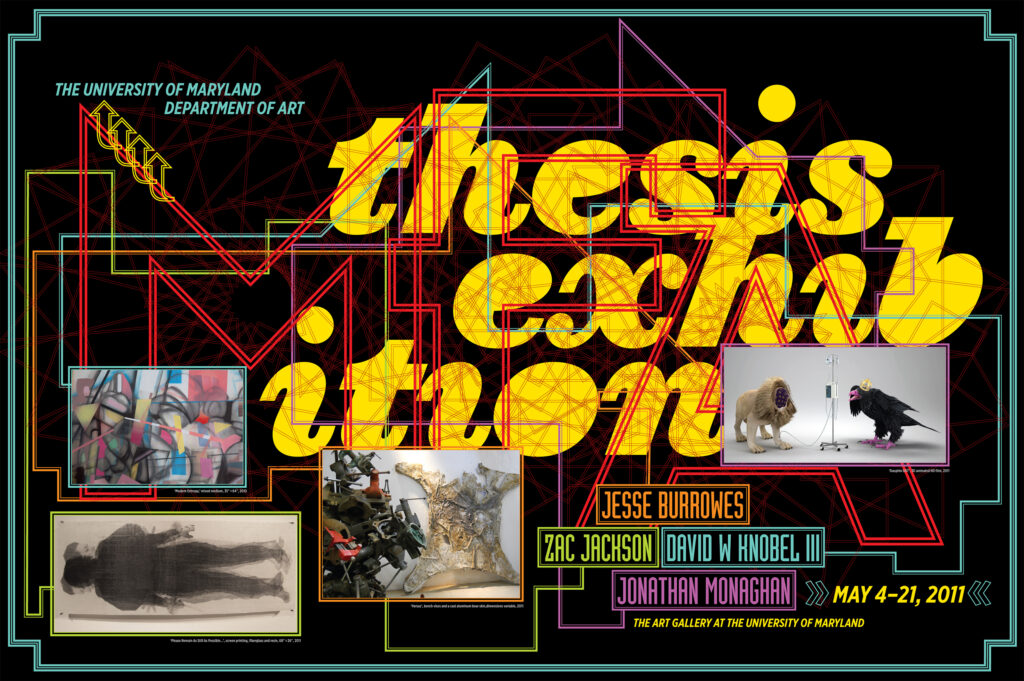 Back cover to 2011 MFA Thesis Exhibition program