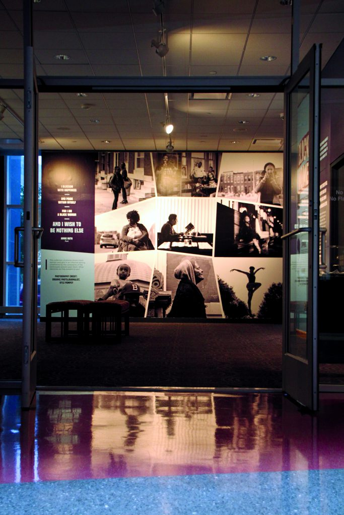 The entranceway to the exhibit