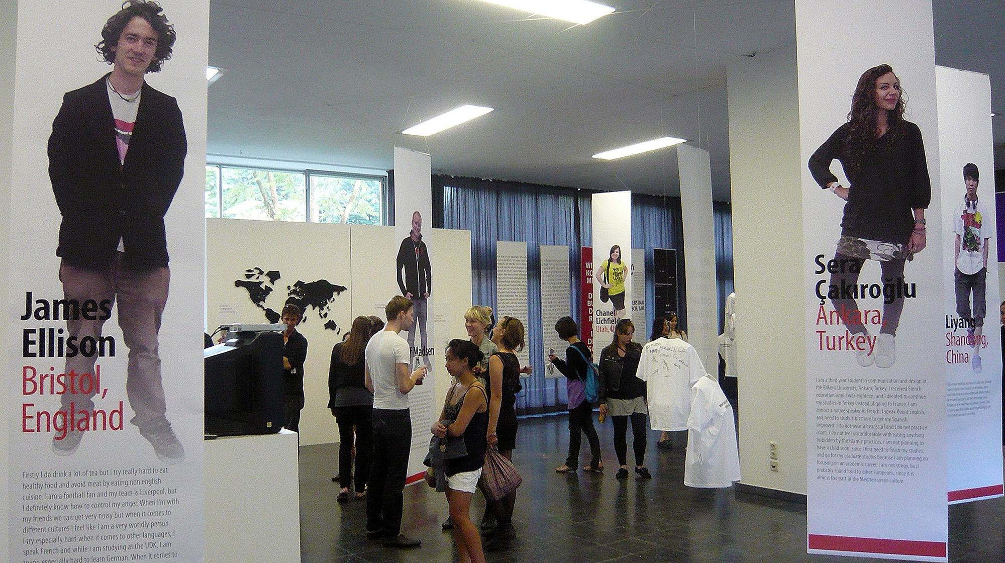 exhibit opening scene