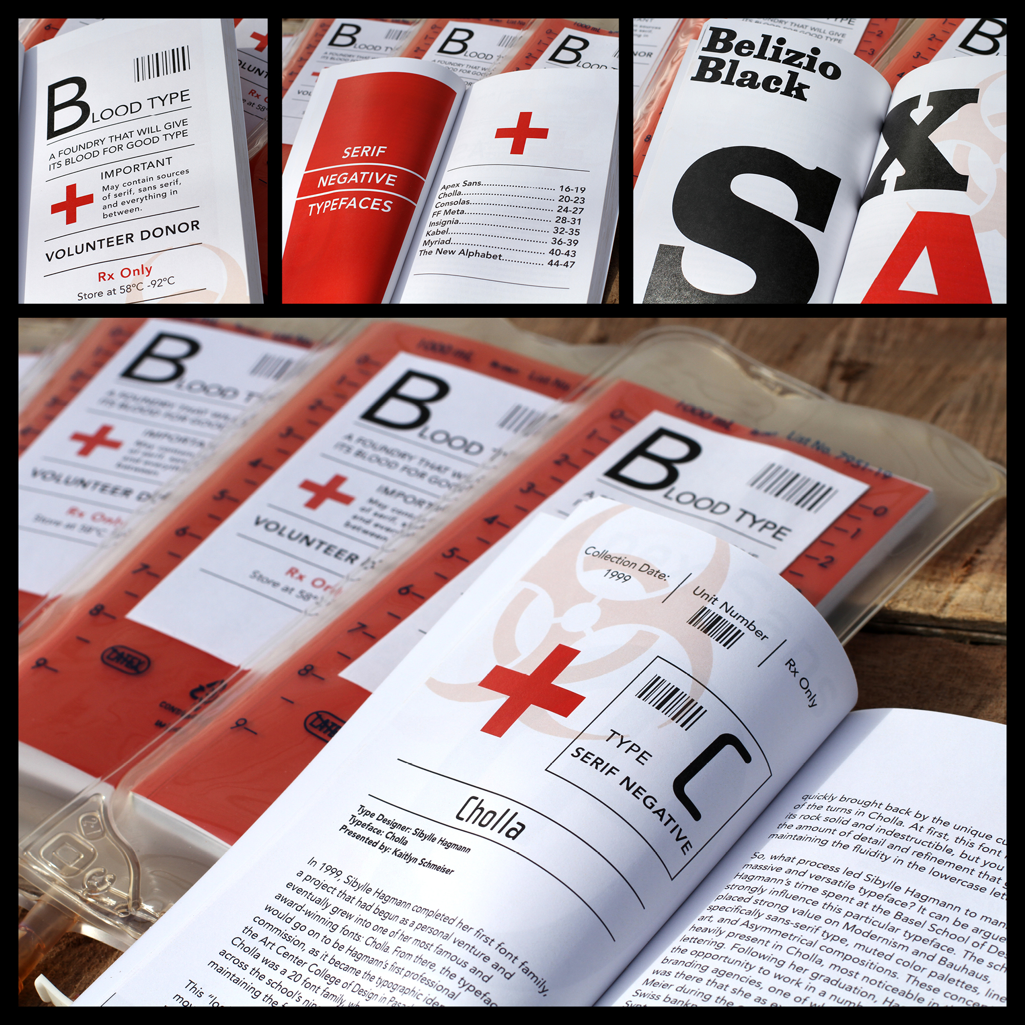 Blood Type magalog design